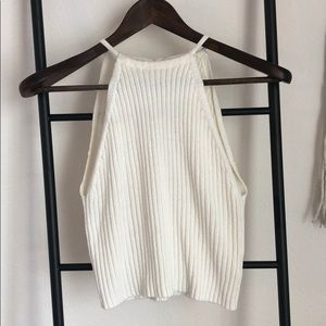 Sweater halter tank top, size small